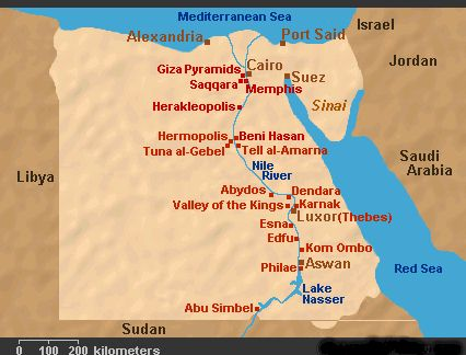 Midland Maps - Map of egypt with major cities